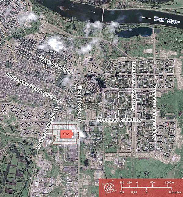 Izumrud-Emerald Kemerovo urban housing masterplan in context